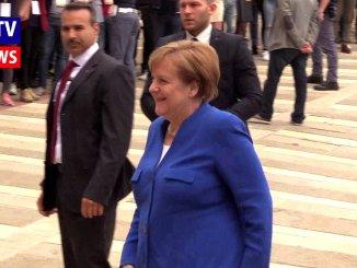 Angela Merkel e Juan Manuel Santos sono arrivati ad Assisi