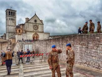 Angela Merkel, Santos e Gentiloni ad Assisi, Frati, grazie Forze dell'Ordine