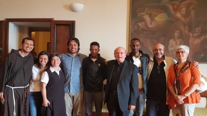Due fratelli eritrei, ma sono 24, grazie Assisi per averci salvato la vita, ospiti Diocesi