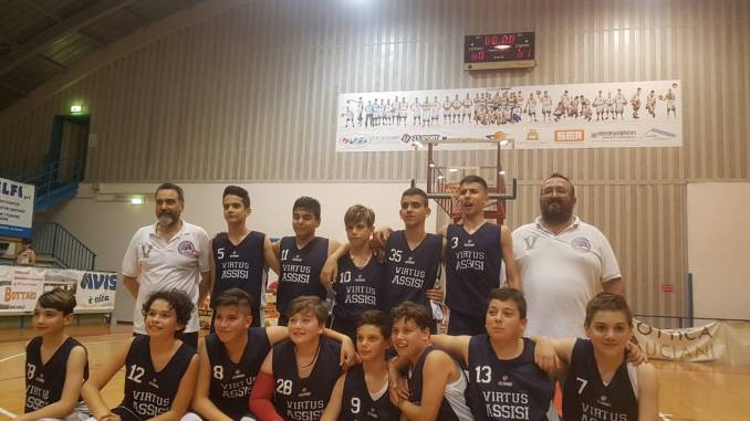 Basket, la Virtus Assisi, under 13, è campione regionale
