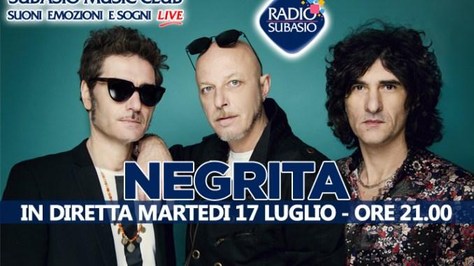 A Radio Subasio la musica dal vivo dei Negrita, ospiti di Subasio Music Club