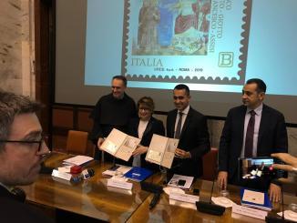 Presentato a Roma il Francobollo San Francesco e il Sultano c'era Luigi Di Maio
