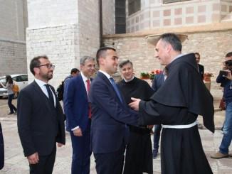 Ministro Di Maio ha visitato la Basilica di San Francesco