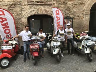 Squadra Corse Vespa Assisi all'Audax delle Marche 500 km in notturna