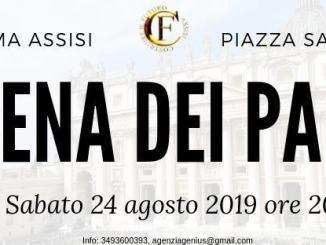 La Cena dei Papi 24 agosto 2019 iniziativa de Costruire il Futuro