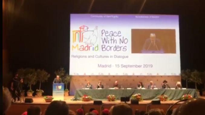 Stefania Proietti a Madrid alla conferenza Pace nello Spirito di Assisi