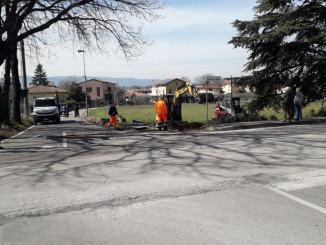 Rotatoria di Rivotorto d'Assisi, iniziati i lavori, costerà 140 mila euro