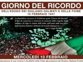 Giorno del Ricordo ad Assisi, in memoria delle vittime delle foibe