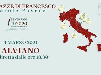 Piazze di Francesco, diretta da Alviano incontro su ambiente e sostenibilità