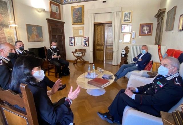 Assisi, Generale Carabinieri Antonio Pietro Marzo in visita in comune