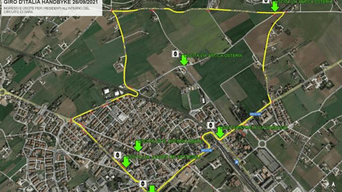Domenica 26, giro d'Italia handbike, come cambia la viabilità