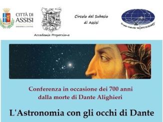 Venerdì 10 conferenza L'Astronomia con gli Occhi di Dante