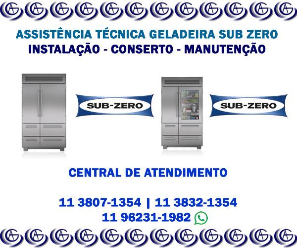Assistência técnica geladeira Sub Zero
