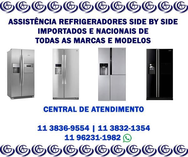 assistência técnica refrigeradores side by side importados e nacionais