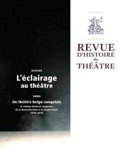 Couverture revue d'histoire du théâtre