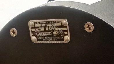 Bausch & Lomb 600 mm - Plaque d'identité