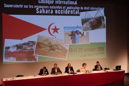 Déclaration finale adoptée le 20 octobre 2018 – Souveraineté sur les ressources naturelles et application du droit international au Sahara occidental