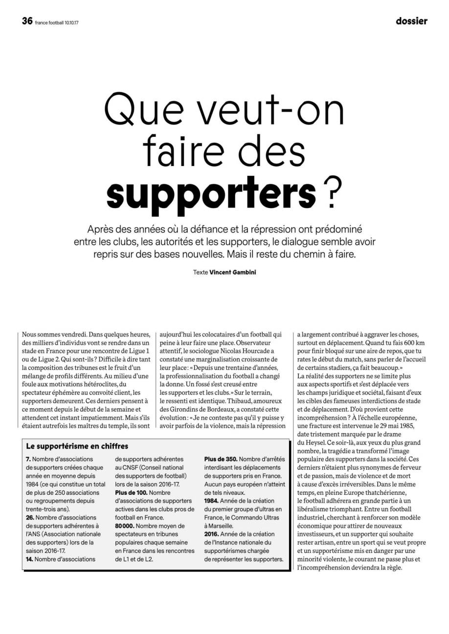 Que veut-on faire des supporters ?