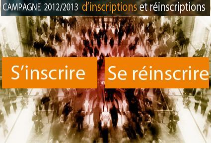 Campagne inscriptions 2012-2013