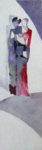 Francesca Soggiu - Altrove con il pensiero - acrilico cartone - 50x13.5