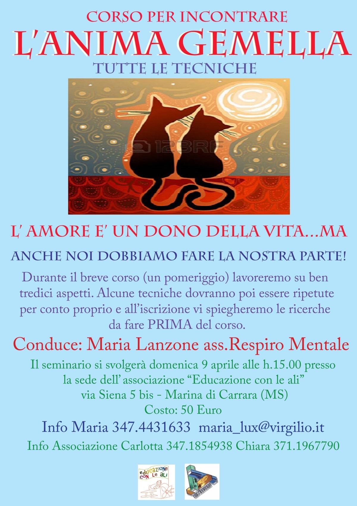 9 Aprile: come incontrare l'Anima Gemella a Marina di Carrara
