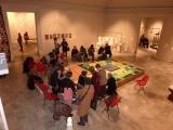 <h5>Fiori d'irlanda in uno specchio d'acqua </h5><p>Istallazione dell'opera presso la Promotrice di Belle Arti Torino.</p>