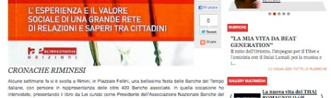 """Da NQnews.it """"Banche del Tempo quando il valore è lo scambio sociale"""""""