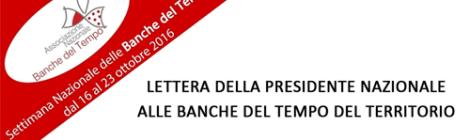 Settimana Nazionale delle Banche del Tempo dal 16 al 23 Ottobre 2016