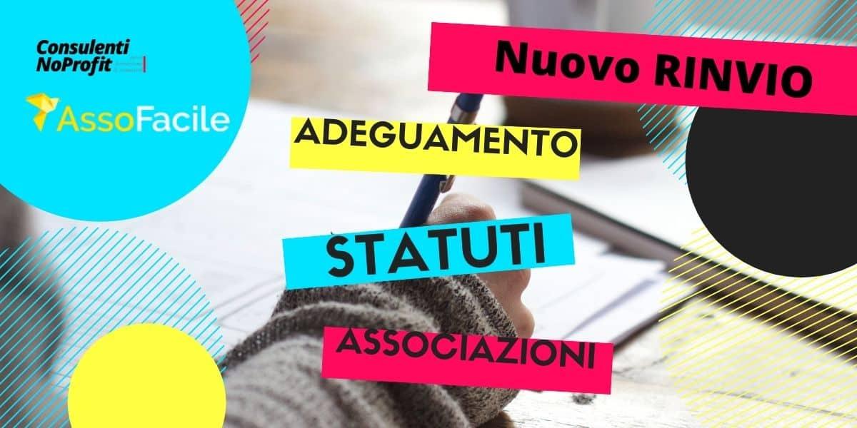 Adeguamento Statuti Associazioni: termine scadenza rinviato al 31 marzo