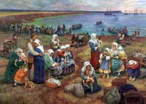 Ships Take Acadians Into Exile (Claude Picard)