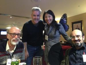 John Park, Joe Mahoney, Melissa Yuan-Innes, Jean-Louis Trudel at CanCon in Ottawa, in a photo taken by David Hartwell