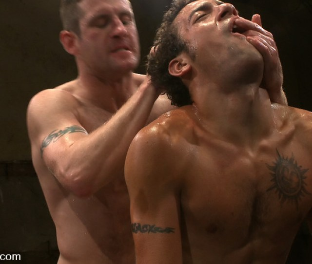 Two Ripped Studs Fight Naked In Oil And The Winner Fucks The Loser