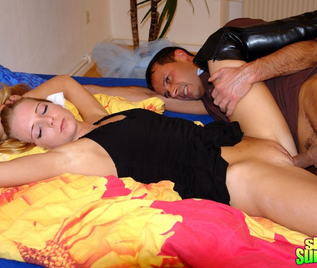 Tiny Blonde Gets Fucked While Sleeping In Her Own Bedroom