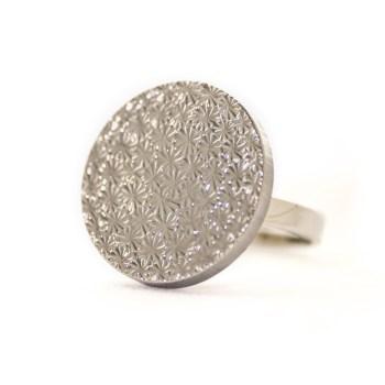 Silver coloured Apolline ring