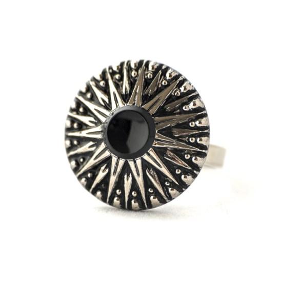 Silver coloured Léontine ring