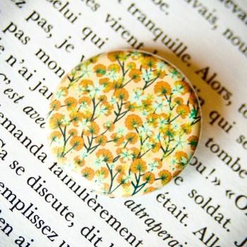 Badge Sakura Ocre 1
