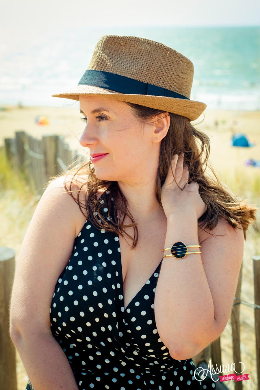 Assuna Lookbook 2017 - Bracelet bouton ancien Louise or