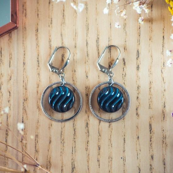 Assuna - Boucles d'oreilles petites dormeuses cercles Simone inspiration vintage