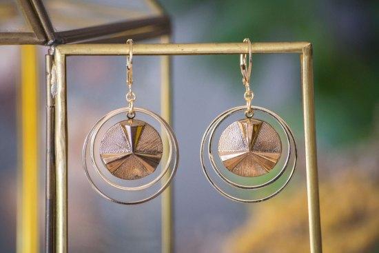 Assuna - Grandes boucles Lunare Angèle doré - inspiration vintage
