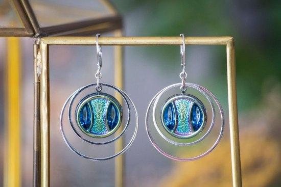 Assuna - Grandes boucles Lunare Iris - inspiration vintage