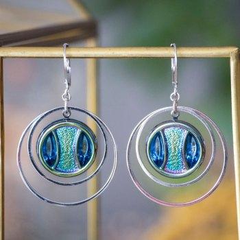 Grandes boucles Lunare Iris bleu