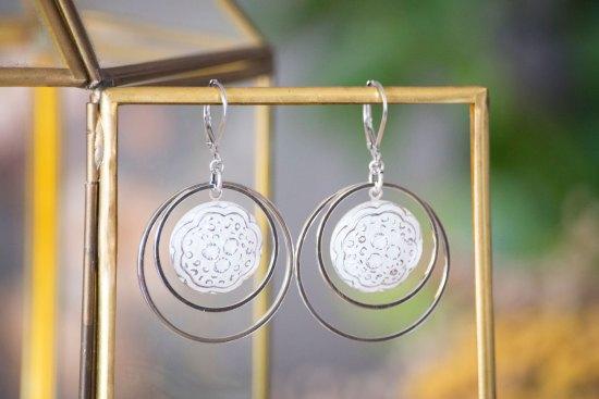 Assuna - Grandes boucles Lunare Ombeline - inspiration vintage