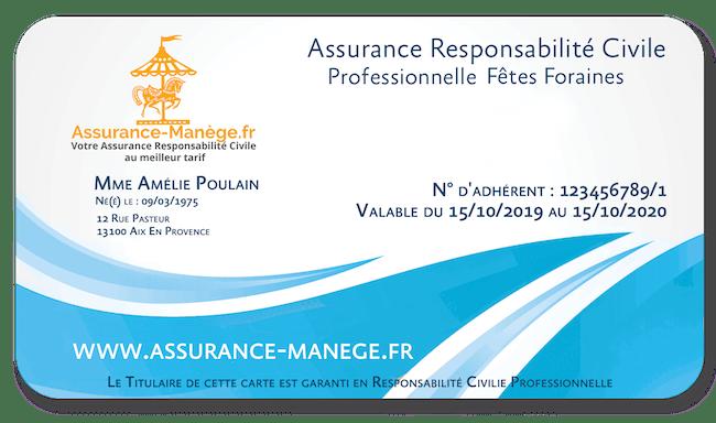 Assurance Responsabilité Civile Pro Fêtes Foraines Niveau 1
