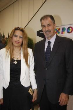 بسام لحود وماري لين كرم