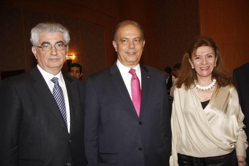 السفيرة جورجيت ملاط والسفير إيلي الترك والدكتور هيام ملاط