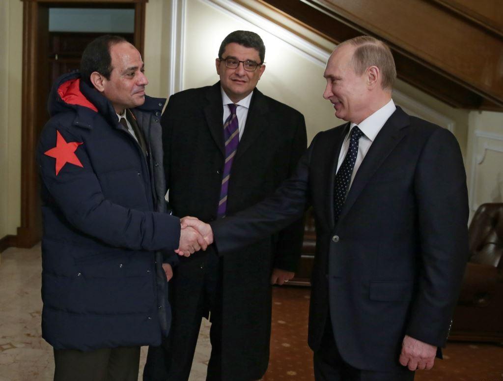 الرئيس الروسي فلاديمير بوتين يستقبل الرئيس السيسي