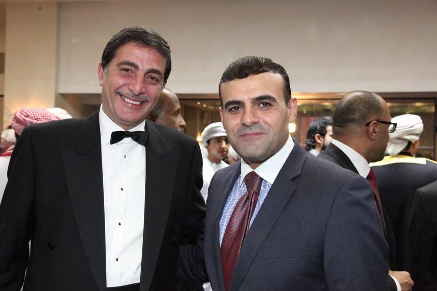 عمر الكردي وسفير الأردن مازن كمال الحمود