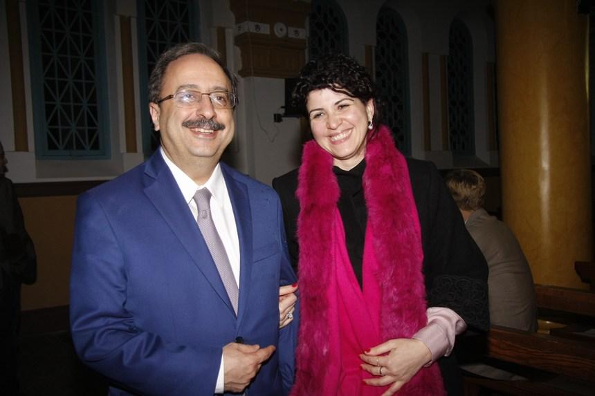 مارينا واكيم والنائب غسان مخيبر