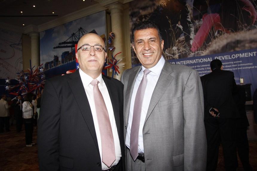 العميد جورج خميس والعميد عامر حسن