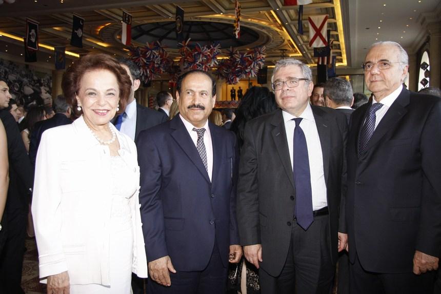 جورج نصراوي، فادي الجميل، السفير السعودي علي بن عواض عسيري، نايلة معوض